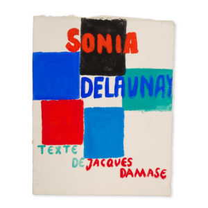 # 11465  DELAUNAY, Sonia (1885-1979)  [SONIA DELAUNAY] Trial design in gouache for the cover of Robes poèmes (Paris : Jacques Damase, 1969)