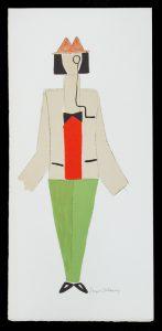 Tristan Tzara with monocleDELAUNAY, Sonia (1884 - 1979)# 13456