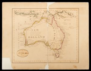 Manuscript map of Australia, dated 1835