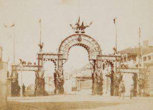 Welcome Arch for Alfred, Duke of Edinburgh and Saxe Coburg and Gotha, Macquarie Street, Sydney, 1868NEWMAN, John Hubert# 14025