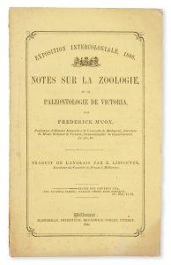 Notes sur la Zoologie, et la paleontologie de VictoriaMcCOY, Frederick (1817-1899)# 14050