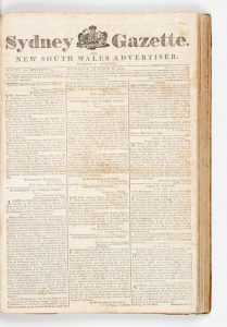 Sydney Gazette and New South Wales Advertiser (Volume XVI, 1818, virtually complete)HOWE, George (1769-1821)# 13196