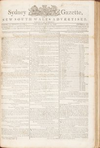 Sydney Gazette and New South Wales Advertiser (Volumes XVII-XVIII, 1819-20, virtually complete)HOWE, George (1769-1821)# 13173