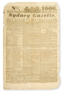Sydney Gazette and New South Wales Advertiser. Volume Twenty-one, number 1006, February 27, 1823