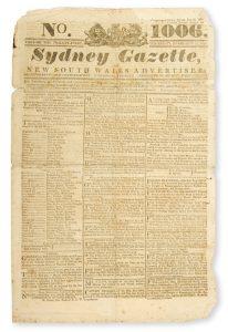 Sydney Gazette and New South Wales Advertiser. Volume Twenty-one, number 1006, February 27, 1823HOWE, Robert (1795-1829)# 13389