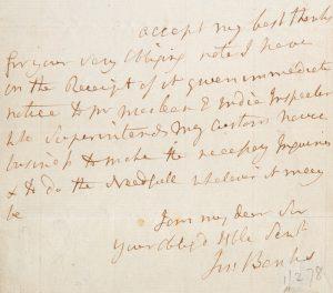 Sir Joseph Banks : autograph letter, signedBANKS, Joseph, Sir (1743-1820)# 13932