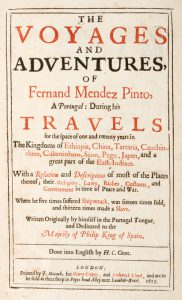 The voyages and adventures of Fernand Mendez Pinto, a Portugal, during his travels for the space of