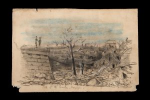 Aftermath of the explosion of the Mainz powder magazine, 18 November 1857 : three published sketches