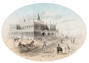 The Melbourne Exhibition Building. N. W. angle 1856