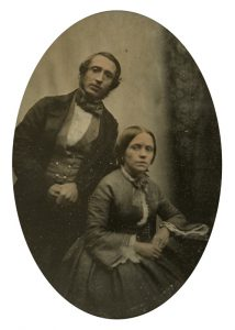 [GOLD RUSH] Ambrotype of Samuel and Elizabeth Bates, emigrants to Australia, 1855