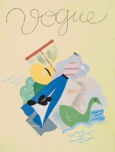 Original gouache for the cover of Vogue Paris 1935