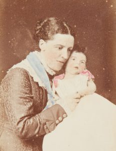 Photographic portrait of Margaret Chirnside and her dying son, aged 10 weeks, Melbourne, 1877