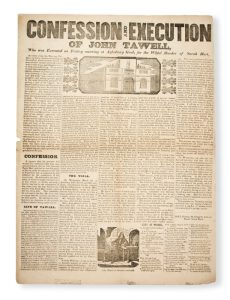 [CONVICT BROADSIDE] Confession and execution of John Tawell, who was executed on Friday morning