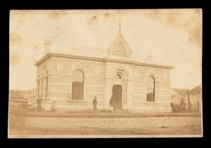 Mechanics' Institute building, far southwest Victoria or southeast South Australia, circa 1868