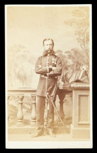 Photographic portrait of a military officer in dress uniform, Melbourne, circa 1865