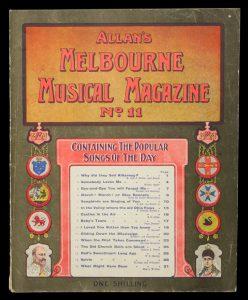 [SHEET MUSIC] Allan's Melbourne musical magazine no. 11.ALLAN & CO.# 13240