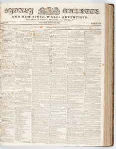 Sydney Gazette and New South Wales Advertiser (Vol. XXV, 1827, substantially complete)