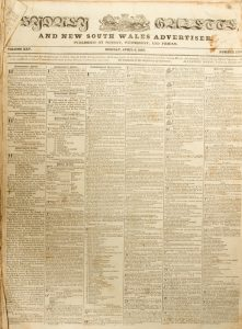 Sydney Gazette and New South Wales Advertiser. Volume Twenty-five, 1827 (incomplete)