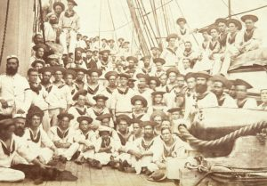 [NEW ZEALAND WARS] Photograph taken on board HMS Eclipse at Port Royal, Jamaica, circa 1866