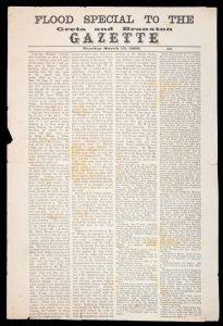 [HUNTER VALLEY] Flood special to the Greta and Braxton Gazette. Monday March 13, 1893. 1d.GRETA AND BRANXTON GAZETTE.# 13092
