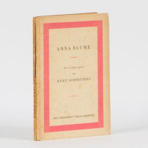 Anna Blume. Dichtungen.SCHWITTERS, Kurt# 12830