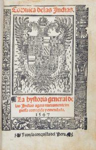 Coronica delas Indias. La hystoria general de las Indias agora nueuamente impressa corregida yFernández de Oviedo y Valdés, Gonzalo (1478-1557); XEREZ, Francisco de# 12411