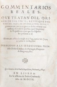 [Primera Parte de los] Commentarios Reales, que tratan del Origen de los Yncas,Vega, Garcilaso de la, 1539-1616# 12655