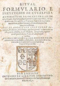 Ritval formvlario, e institvcion de Cvras : para administrar a los natvrales de este reyno,Pérez Bocanegra, Juan# 12426