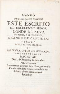Mandó qve se imprimiesse este escrito el excelent.mo senor Conde de Alva de Aliste, y de Villaflor,Juan de PADILLA, Alcalde; Diego León Pinelo# 12523