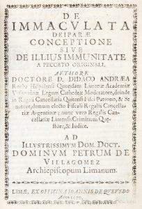 De immaculata Deiparae conceptione, sive, De illius immunitate a peccato originali.Didacus Andraea Rocha# 12578