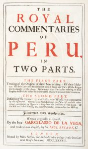The royal commentaries of Peru, in two parts.