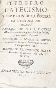 Tercero catecismo y exposicion de la doctrina Christiana por sermones : paraque los curas, y otrosJosé de Acosta# 12585