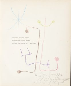 Joan Miró : su obra gráfica (signed with original drawing)