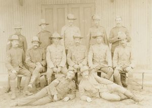 [BOER WAR] Members of the 5th Victorian Mounted Rifles, Green Point, South Africa, March 1902