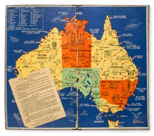 Race round Australia : an instructive, educational game for two to four players.MACKINTOSH, Jessie; G.N. RAYMOND# 11547