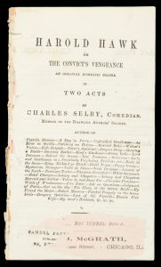 Harold Hawk ; or, The convict's vengeance : an original domestic drama in two acts