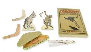 Bangaroo : the harmless and fascinating boomerang gameBANGAROO MANUFACTURING CO.; [FRANCIS P. STONELAKE, artist, 1879-1929]# 11176
