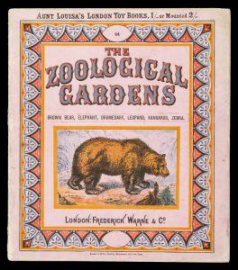 The zoological gardens. Brown bear, elephant, dromedary, leopard, kangaroo, zebra.# 11106