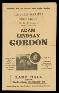 [AUSTRALIAN SILENT FILM] The life's romance of Adam Lindsay Gordon