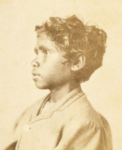 Photographic portrait of an Aboriginal boy, Adelaide, circa 1880