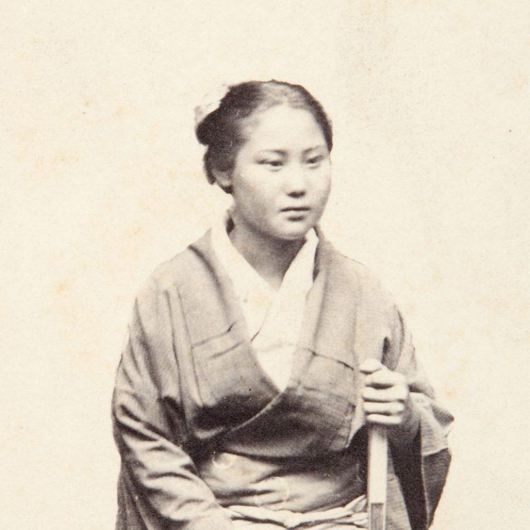 Two Studio Portrait Photographs Hong Kong 1863 65 Albumen Print Each Carte De Visite Format 103 X 63 Mm Verso Of The Group