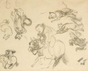 Boy riding a horse, circa 1944PERCEVAL, John (1923-2000)# 10628