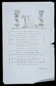 [MANUSCRIPT] Valedictory poem written by a young man emigrating to Australia in 1872
