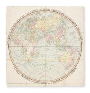 Walker's geographical pastime exhibiting a complete voyage round the world in two hemispheres.