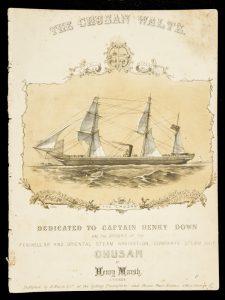 [SHEET MUSIC] The Chusan waltzMARSH, Henry (composer); ANGAS, George French, 1822 - 1886 (illustrator)# 9710