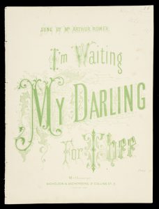 [SHEET MUSIC] I'm waiting my darling for thee