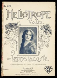 [SHEET MUSIC] Heliotrope valseLACOSTE, Leona (pseud.) [BURNS, Felix, 1864-1920]# 9700