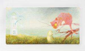 Cat on the Island - original cover paintingWARDEN, Gillian (1964 - )# 6912