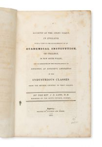 Account of the steps taken, in England, with a view to the establishment of an academicalLANG, John Dunmore (1799-1878)# 14501