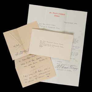 Cardinal Gilroy, Archbishop of Sydney : typed letter, signed, and autograph note, November 1960